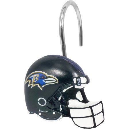 Baltimore Ravens Decorative Bath Collection 12-Pack Shower Hooks WLM
