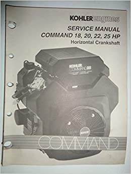 kohler command 18, 20, 22, 25 hp horizontal crankshaft engine shop service  manual 4/94 tp2428a: kohler: amazon com: books