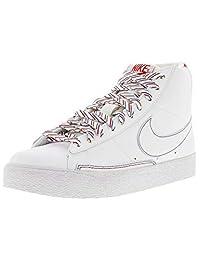 Nike Women's Blazer High White/White-Varsity Red-Dark Marine Blue High-Top Basketball Shoe - 11.5M