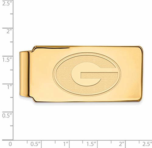 UG Official w Georgia Clip Silver Collegiate Sterling of Gold Money LogoArt Yellow Licensed University 14K Plated 7gO5S5w0q