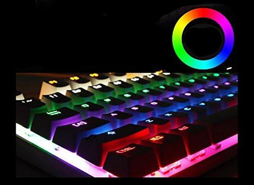 Color : Black AUSWIEI Mechanical Gaming Keyboard Blue Switches LED Backlit 104-Key Multimedia Gaming Keyboard