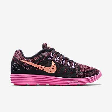 Nike Lunar Tempo Womens Black/Sunset Glow/Pink Running Sn...