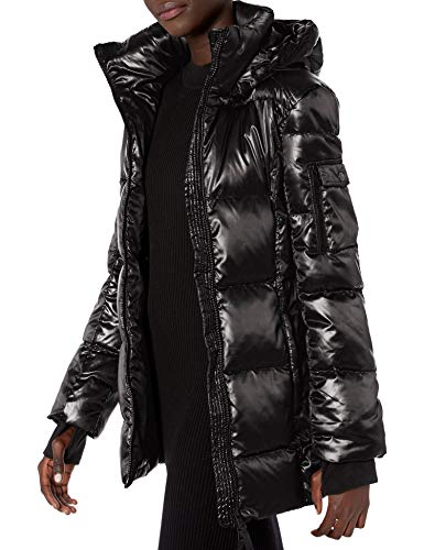 S13 Women's Gramercy Midlength Down Coat, Jet, Small