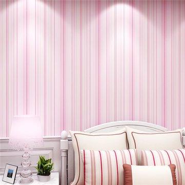 Modern Fashion Horizontal White Blue Striped Wallpaper For Living Room Bedroom