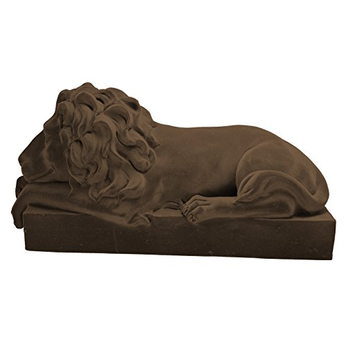 A&B Home Decorative Sleeping Lion Figurine, Brown Black