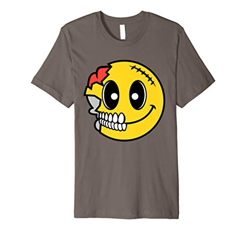 Cute Scary Halloween Smiley Skull Shirt Costume Emojis Gift]()