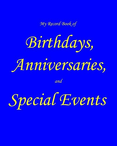 Record Birthdays Anniversaries Special Events product image