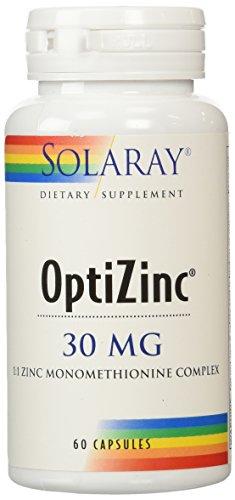 Solaray Optizinc Supplement, 30 mg, 60 Count