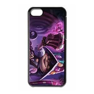League of Legends Bittersweet Lulu Funda iPhone 5C teléfono celular Caso Negro L8O3CGHT único protector del teléfono celular