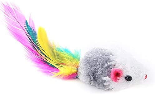 Aftermarket Furry Pet Cat Toys Mice, Cat Toy Mouse, Pet Toys for Cats, Cat Catcher for Feather Tails, 10 Counting 5