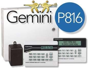 Napco Alarms - Napco Gemini P816 Security Panel, 8-16 Zones (GEM-P816)
