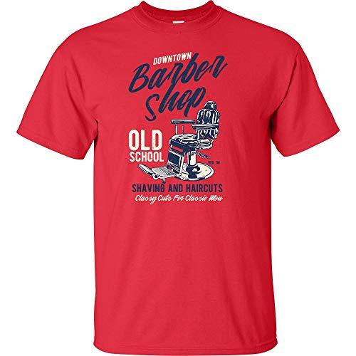 e1dabdb3 Downtown Barbershop Old School Logo T Shirt Mens Career Artist Job  Sarcastic Funny Adult Joke Clever