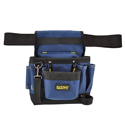 FASITE 7-POCKET Small Electrical Maintenance Tool Pouch Bag Technician's Tool Holder Work Organizer with Belt (Electrical Tool Belts)