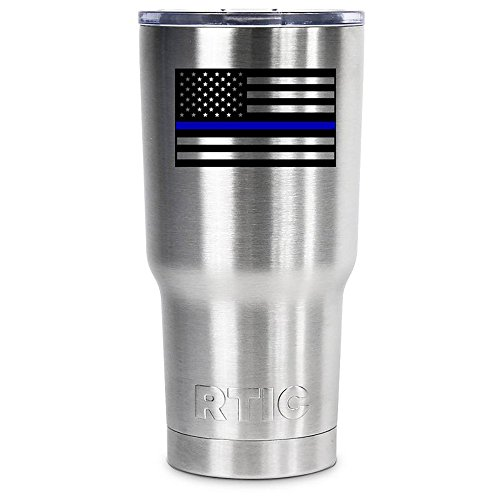 RTIC Police Thin Blue Line American Flag on 20 oz Stainless