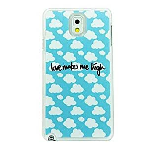 QHY Blue Sky and White Cloud Leather Vein Pattern Hard Case for Samsung Galaxy Note 3 N9000