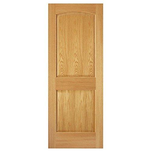 2-Panel Unfinished Red Oak Slab Door