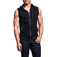 19ac70d52ef1c4 Victorious G-Style USA Lightweight Sleeveless Contrast Hoodie