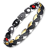 Womens Best Ion Bracelet ALL SIZES Magnetic Therapy Tourmaline Germanium Negative Ion Bracelet Arthritis Health Energy Balance Bracelet +Gift Box-GBL4 (16 cm / 6.3 in)