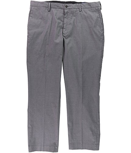 Polo Ralph Lauren Mens Classic Fit Flat Front Dress Pants Gray (Ralph Lauren Pant Suit)