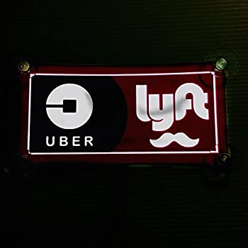 uber lyft decal sign rideshare car display cards custom made with your name. Black Bedroom Furniture Sets. Home Design Ideas