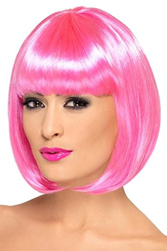 [TINYUNICORN Women's Neon Bob Costume Wig for Cosplay Party] (Halloween Costumes For Asian Women)