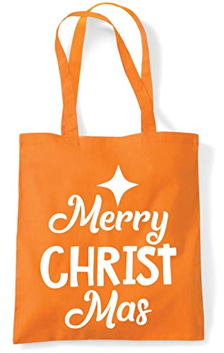 Orange 10 Shopping Hippowarehouse Beach Tote Christ Merry Gym Mas Bag litres x38cm 42cm xxFR7qv