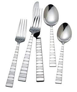 R+B Everyday Pierson 18/0  Stainless Steel 45 Piece Flatware Set, Service for 8