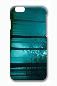 Brian114 6 Case, iPhone 6 Case - 3D Fashion Print Drop Protection Case for iPhone 6 Foggy Forest Scratch Resistant Case for iPhone 6 4.7 Inches