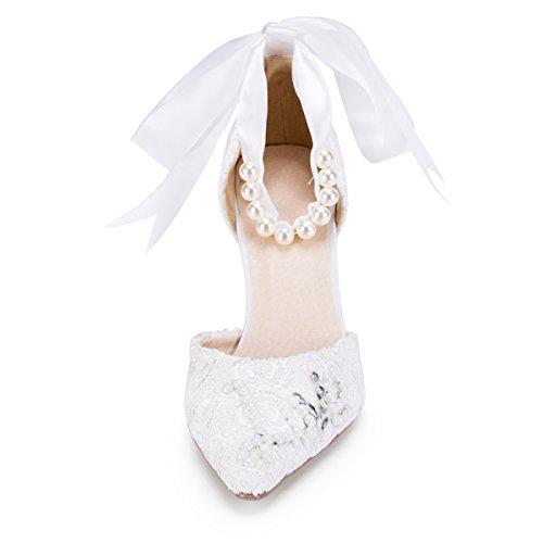blanco la moda Zapatos boda Mujer Fashion Kevin Blanco a de qXWAUzcwZ