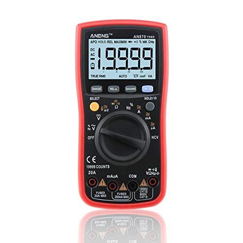 (Multifunctional Current Meter, ANENG AN870 True-RMS Auto Range LCD Digital Multimeter Voltage Ammeter )