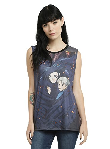 Her Universe Women's Howl's Moving Castle Muscle Top Tank Top T-Shirt Tee (Small, Embrace)