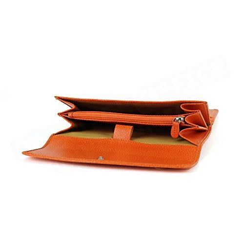 Compagnon de voyage cuir Orange Beaubourg