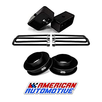 Image of American Automotive 1999-2007 Silverado Sierra Lift Kit 2WD 3' Front Spring Spacers + 3' Rear Blocks Made in USA Steel Road Fury TIG Welded