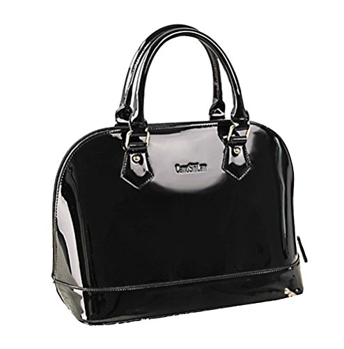 Bag Bride Handbag Bag Show Shell Leather Black Women's Chinese Patent Yan Bag Shoulder wtPgq1