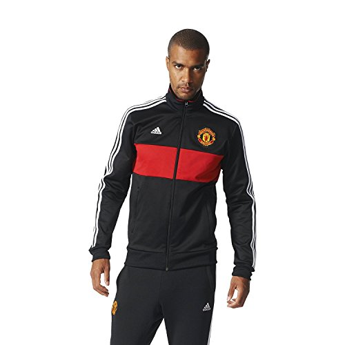 adidas Mens Soccer Men's Manchester United 3 Stripe Track Top