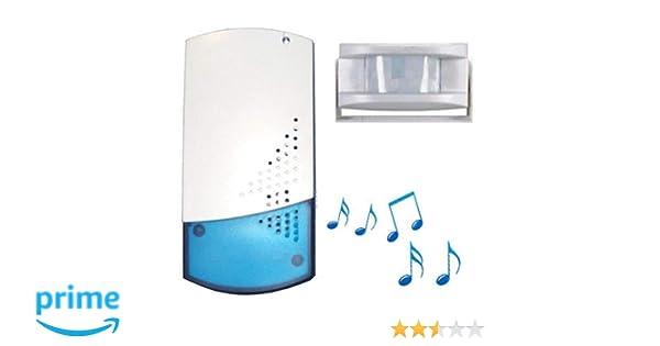 Digitek - Timbre inalámbrico para tiendas (se incluye sensor de infrarrojos pasivo, con 8 melodías): Amazon.es: Electrónica