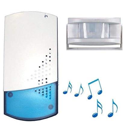 Digitek - Timbre inalámbrico para tiendas (se incluye sensor de infrarrojos pasivo, con 8 melodías)