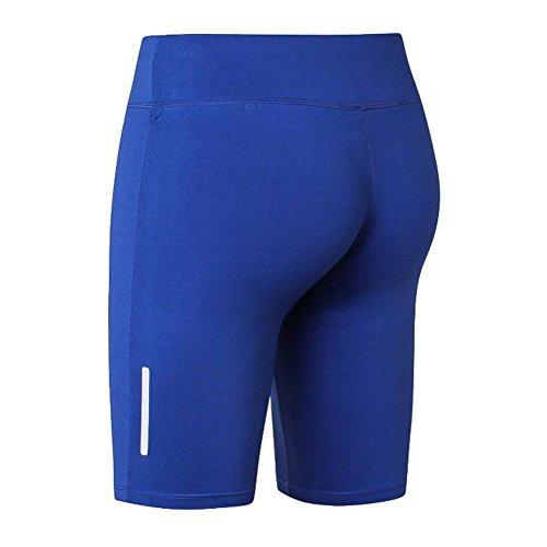 L tinta blu Pantaloncini donna notte Sportswear Yying Fitness morbidi da da unita Short riflettenti Breathing wxPBOCwqg6