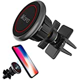 IKOPO Magnetic Phone Holder for Car Air Vent,Car Phone Mount Suitable for iPhone X 8/7/7Plus/6s/6Plus/5S,Samsung Galaxy S8 Edge S7 S6 Note 5,Nexus 6,Google Nexus,LG,Huawei and More Smartphones(Red)