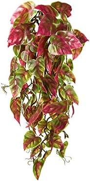Penn-Plax Reptology Climber Vine Reptile Terrarium Plant Decor Red & Green 12inch (REP