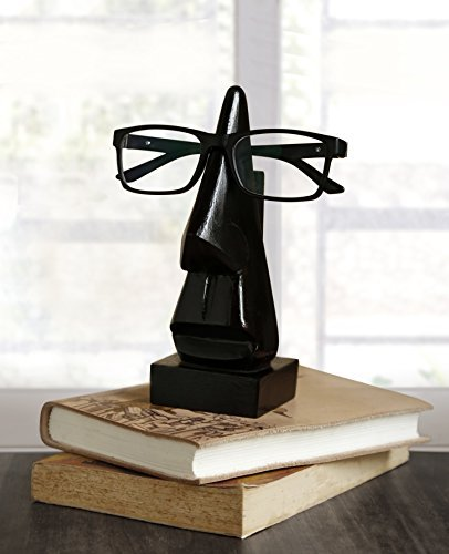 Christmas Gifts Wooden Eyeglass Spectacle Holder Handmade Mustache Display Stand for Office Desk Home Decor Gifts (Black) (Oval Table Rosewood Coffee)