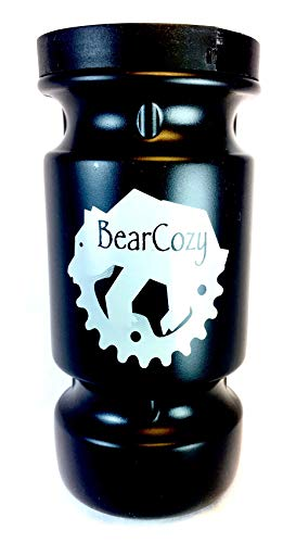 BearCozy - Black Bear Spray Water Bottle Mount for Bikes Fits 225g 7.9oz Only (Best Pepper Spray For Cycling)