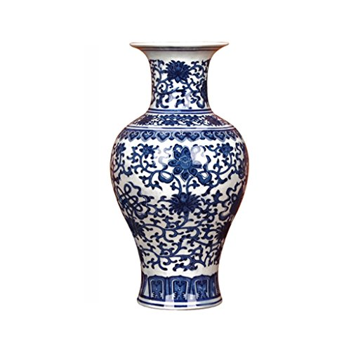 PeaceipUS Jingdezhen Ceramics Classical Blue And White Porcelain Eight Treasures Tabletop Vase Chinese Study Decorative Ornaments