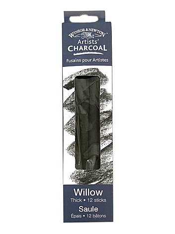 Winsor & Newton Artists' Charcoal vine extra soft box of 12 [PACK OF 2 ]