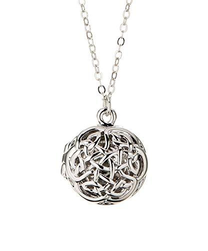 Celtic Knot Locket Necklace 925 Silver
