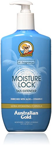 Australian Gold Moisture Lock Tan Extender Moisturizer Lotion, Enriched with Aloe & Vitamin E, 16 Ounce from Australian Gold