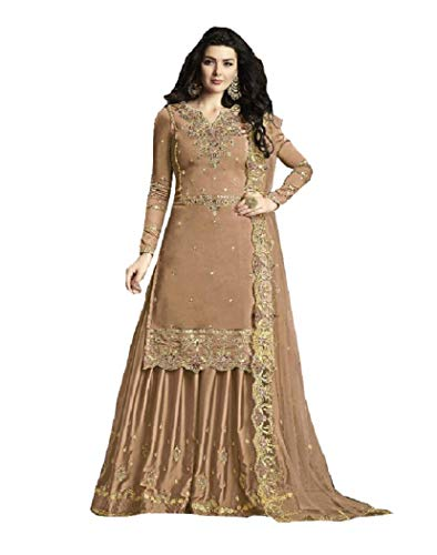 Delisa New Indian/Pakistani Eid Ramzan Special Designer Georgette Sharara/Plazzo Style Salwar Suit for Women 30010