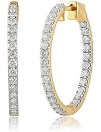14K Gold Inside-Out Diamond Hoop Earring (1/4 - 2.00 Cttw, I-J Color, I2-I3 Clarity)