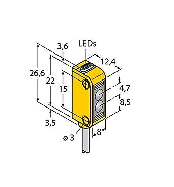 3072128 de q12ab 6lp, Opto sensor Reflexion Barrera de luz m. Filtro De polarización: Amazon.es: Industria, empresas y ciencia