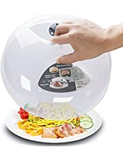 Microwave Splatter Cover,Microwave Cover for Food,Microwave Cover, Microwave Plate Cover Microwave Bacon Food Cover Cooker Lid with Steam Vents 11.5 Inch BPA Free